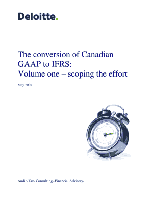 Fillable online the conversion of canadian gaap to ifrs volume one fill online maxwellsz