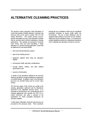alternative cleaning methods for aircraft form