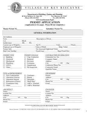 Key West Building Permit Application