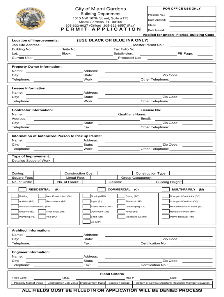 large - City Of Miami Gardens Building Department Permit Search