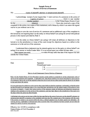 Waiver Sample Form - Fill Online, Printable, Fillable, Blank ...