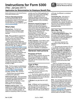 Fillable Online irs Instructions for Form 5300 (Rev. December 2013 ...