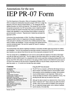 Ode Iep Forms - Fill Online, Printable, Fillable, Blank | PDFfiller
