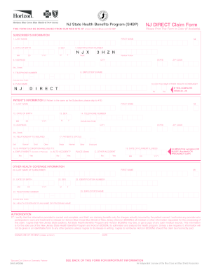 Nj Form Direct Claim - Fill Online, Printable, Fillable, Blank ...