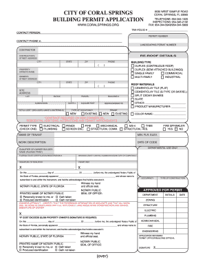 Coral Building Permit Fill Online Printable Fillable