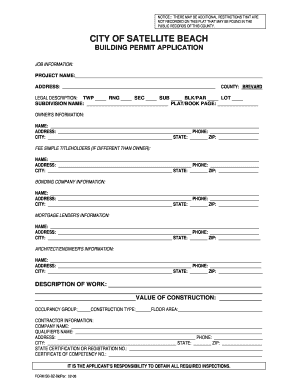 City Of Hallandale Building Permit Application