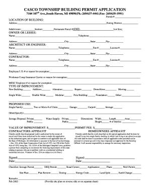 Casco Township Mi Electrical Permit Application Fill
