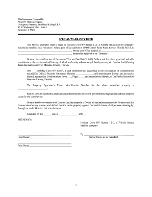 Special Warranty Deed Pa Doc - Fill Online, Printable, Fillable ...