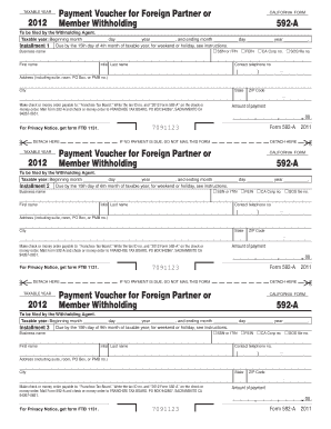 California Department Of Revenue Form 592 - Fill Online, Printable ...