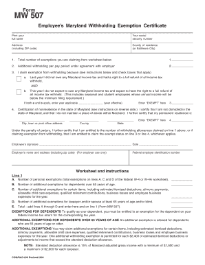 Maryland Tax Forms - Fill Online, Printable, Fillable, Blank ...