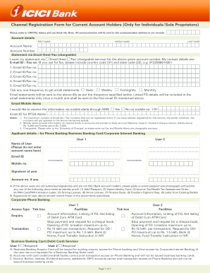 icici bank joint account application form