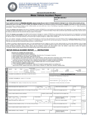 Ri accident report fill online printable fillable for Commonwealth of massachusetts motor vehicle crash report