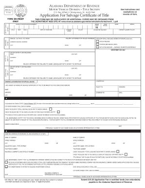 Alabama Form Mvt 5 6 - Fill Online, Printable, Fillable, Blank | PDFfiller