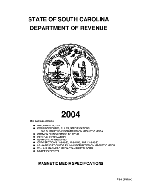 STATE OF SOUTH CAROLINA DEPARTMENT OF REVENUE - sctax