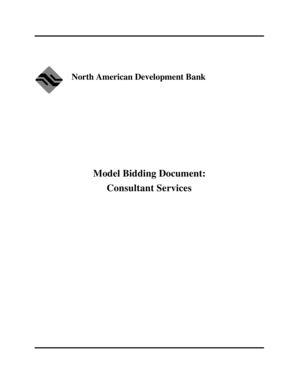 Consultant Services - North American Development Bank - nadb