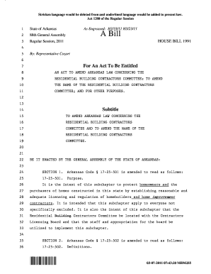 Arkansas Act 1208 Of 2011 - Fill Online, Printable, Fillable