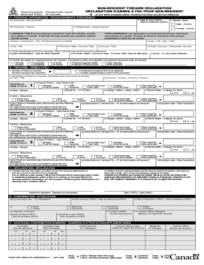 Canada Firearms Declaration Form - Fill Online, Printable ...