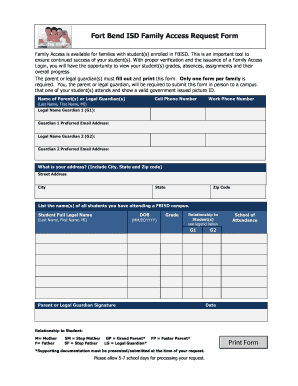 skyward fbisd form