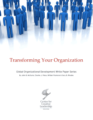 organizational development paper This paper will appear in the organization development and change: a reflection on where we the earliest theory of organization development was that.