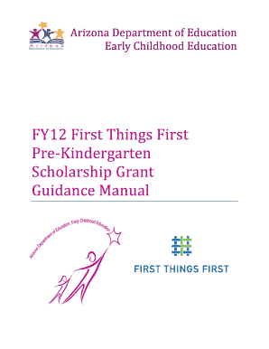 FY12 First Things First Pre - Kindergarten Scholarship Grant ... - azed