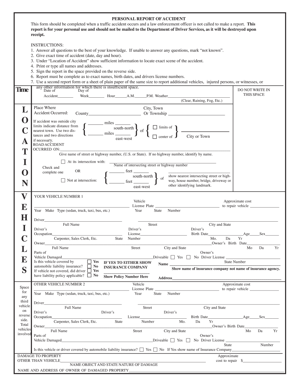 dot accident report form