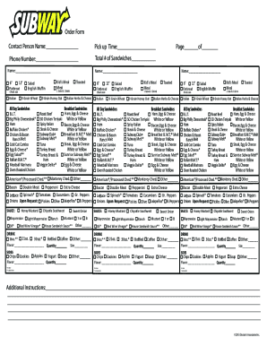 graphic regarding Subway Menu Printable referred to as Subway Sort - Fill On the internet, Printable, Fillable, Blank