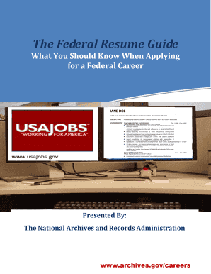 federal resume guide national archives fill