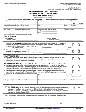 How To Renew Cna Certification In Ma - Fill Online, Printable ...