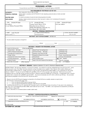 Da Form 4187 Jan 2000 Fillable - Fill Online, Printable, Fillable ...