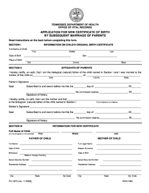 blank birth certificate pdf tn 2008  form