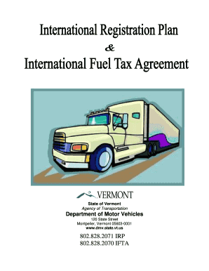 Ifta Vermont Department Motor Vehicles Forms Fill Online