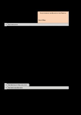 Fillable Online ilo Download the complaint form - (pdf 19 KB