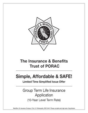 photograph about Level 10 Life Printable titled Porac Everyday living Coverage Indication - Fill On the internet, Printable, Fillable