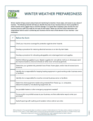 Winter weather preparedness checklist - Agility Recovery Solutions
