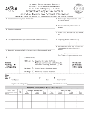 Alabama Form 4506 A - Fill Online, Printable, Fillable, Blank ...
