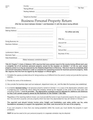 Alabama Personal Property Appraisal Manual