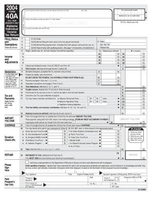 Alabama State Tax Return Form 40a - Fill Online, Printable, Fillable on bank account online, social security online, tax preparation online, tax extension online, california tax online, birth certificate online, tax class online, tax examples,