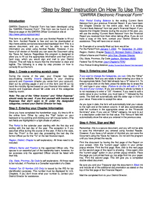 Gwrra financial report form fill online printable fillable gwrra financial report form altavistaventures Gallery