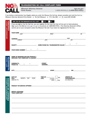 Do Not Call Complaint Log Sheet - Fill Online, Printable, Fillable ...