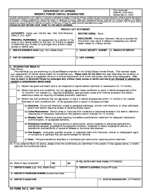 Air Force Dental Form 2813 - Fill Online, Printable, Fillable ...