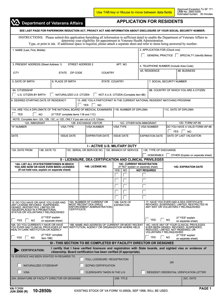 2006-2021 Form VA 10-2850b Fill Online, Printable ...