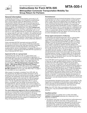 Mta 505 - Fill Online, Printable, Fillable, Blank   PDFfiller