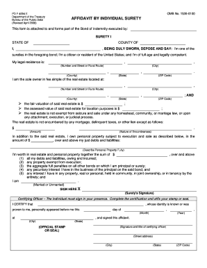 Affidavit Of Individual Surety Sample Fill Online Printable Fillable Blank Pdffiller