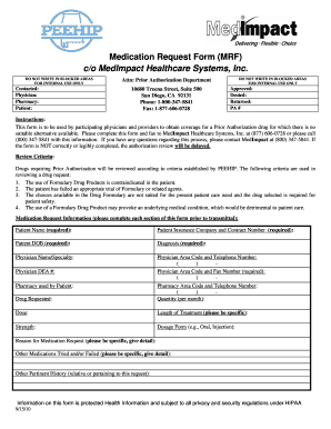 Medimpact Part D Prior Authorization Form For Physicians - Fill ...
