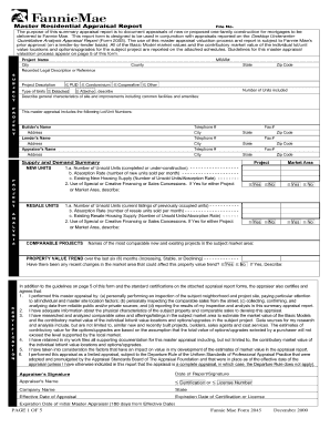 2045 Appraisal Form  Appraisal Sheet