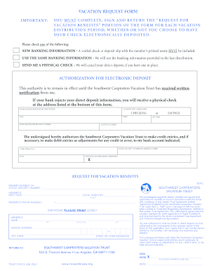 Vacation and holiday trust fund - Carpenter funds administrative office ...