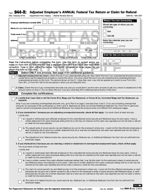 Form 944- X (Rev. January 2012) - irs