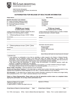mclean hospital - Fillable & Printable Online Forms