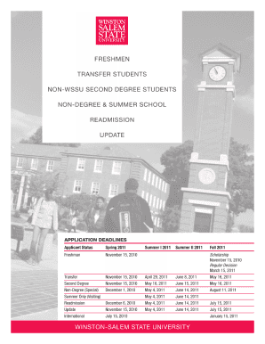 winston salem state university undergraduate applications printable form