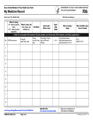 Medication Record Form Pdf Pictures to pin on Pinterest